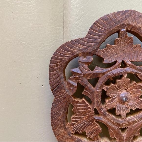 Vintage Wooden Carved Hot Plate